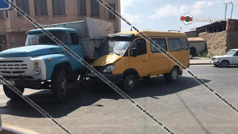 Արմավիր քաղաքում բախվել են մարդատար ГазЕль-ն ու ЗИЛ-ը. կա 3 վիրավոր