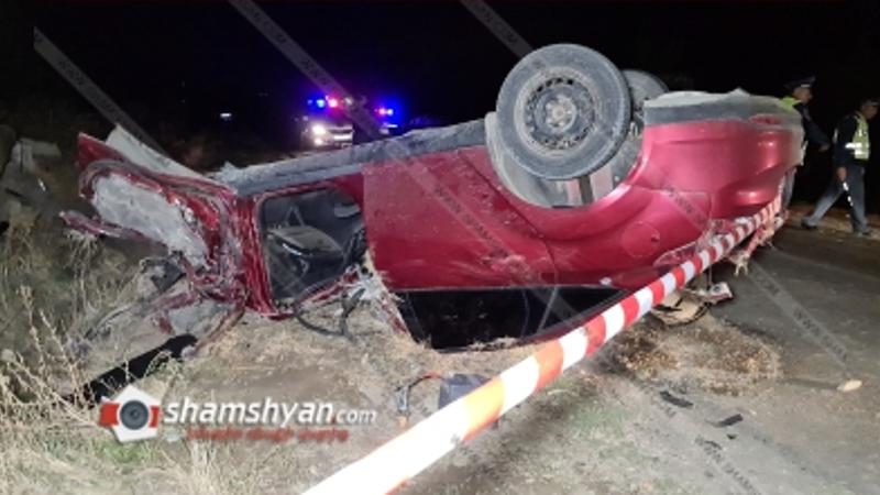 Արարատի մարզում 26-ամյա վարորդը Ford Focus-ով տապալել է էլեկտրասյունն ու գլխիվայր շրջվել. կա վիրավոր