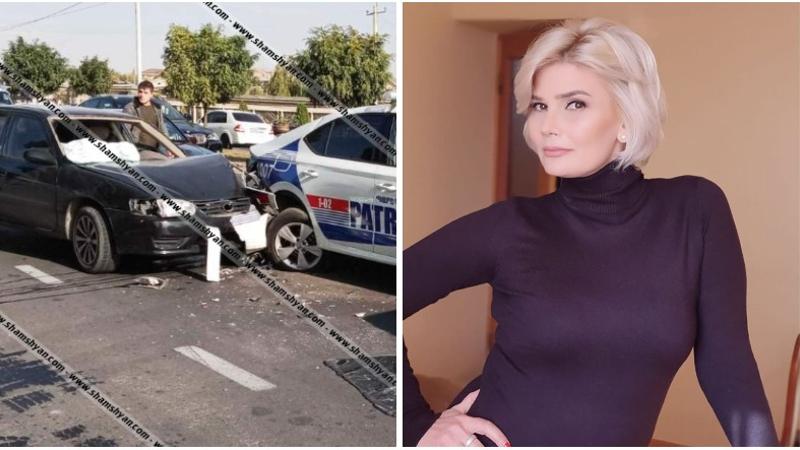 Սերիալներից հայտնի դերասանուհին Վահագնի թաղամասի դիմաց Toyota-ով բախվել է պարեկային ծառայության ավտոմեքենային