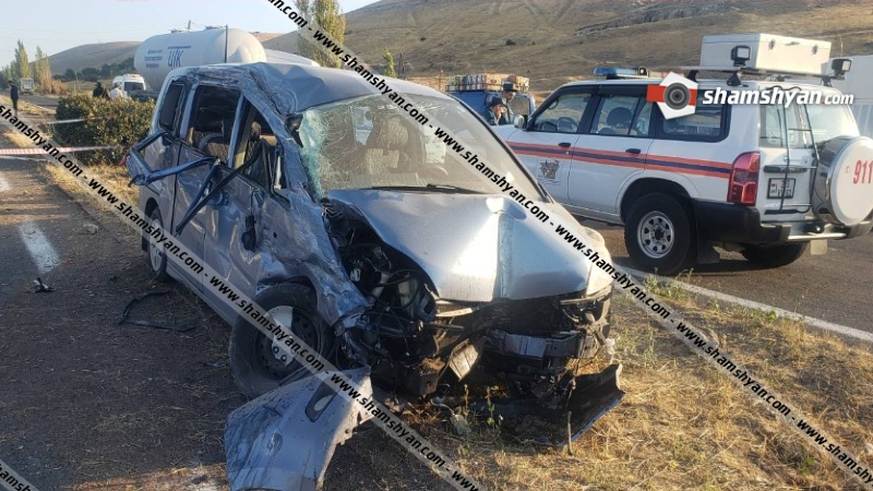 Կոտայքի մարզում Ավազի հանքերի մոտ բախվել են MAN բեռնատարն ու Honda-ն. կա 7 վիրավոր