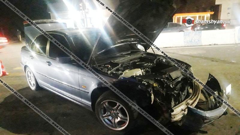 Հրազդան քաղաքում բախվել են 25-ամյա վարորդների BMW-ները