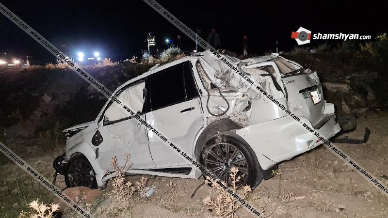Կոտայքում Lexus-ը բախվել է քարերին և, մի քանի պտույտ շրջվելով, հայտնվել ձորակում. կա վիրավոր