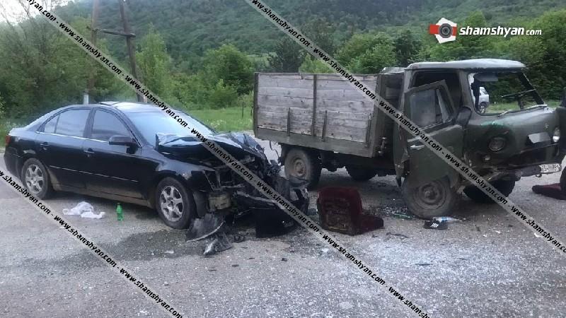 Ավտովթար Լոռու մարզում. բախվել են УАЗ-ն ու Hyundai-ը. կան վիրավորներ