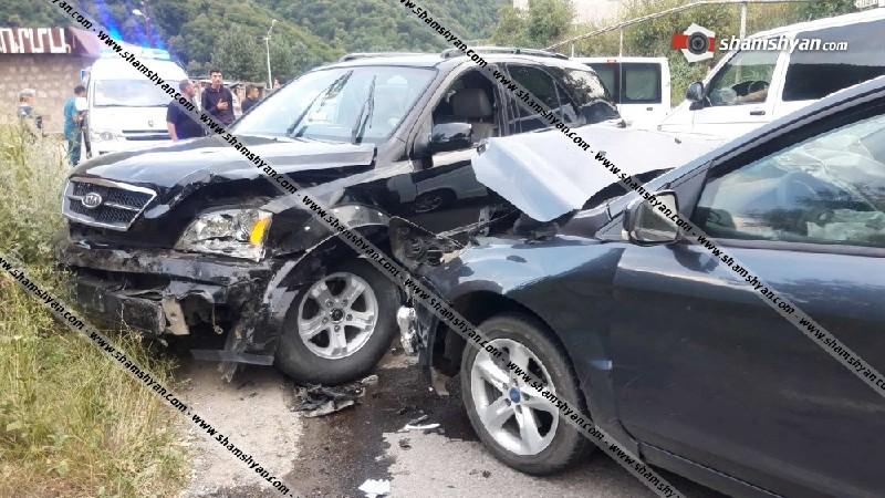 Ավտովթար Լոռու մարզում. բախվել են Ford Focus-ը, KIA Sorento-ն ու Opel Zafira-ն. կա 5 վիրավոր