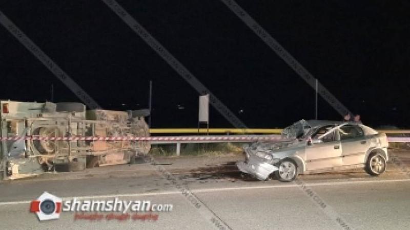 ՊՆ 27-ամյա ծառայողը Opel-ով բախվել է ՊՆ ավտոմեքենային, այն կողաշրջվել է, կա մեկ զոհ, 4 վիրավոր