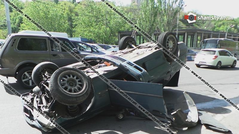 Խոշոր ավտովթար Երևանում. «Ջրաշխարհ»-ի դիմաց BMW-ն բախվել է Opel-ին. կա 4 վիրավոր, որոնցից մեկը երեխա է