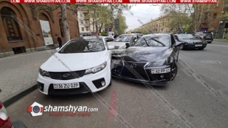 Երևանում շղթայական ավտովթար է տեղի ունեցել. վիրավորները տեղափոխվել են հիվանդանոց