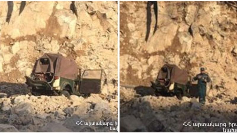 «GAZ-69» մակնիշի ավտոմեքենան դուրս է եկել ճանապարհի երթևեկելի հատվածից և ընկել Տերյան փողոցին հարակից շինարարական հրապարակ․ կա տուժած