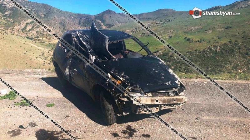 Ողբերգական ավտովթար Արարատի մարզում. Opel Corsa-ն դեռևս անհայտ հանգամանքներում, գլխիվայր շրջվել է. վարորդը տեղում մահացել է