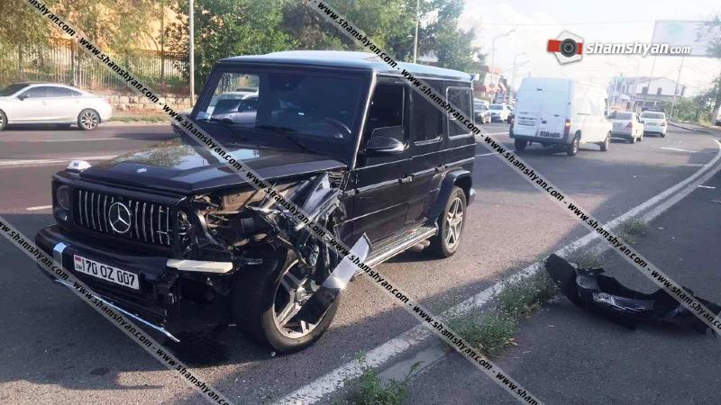 Խոշոր ավտովթար՝ Երևանում. Թբիլիսյան խճուղում բախվել են «յաշիկն» ու Opel-ը. կա վիրավոր