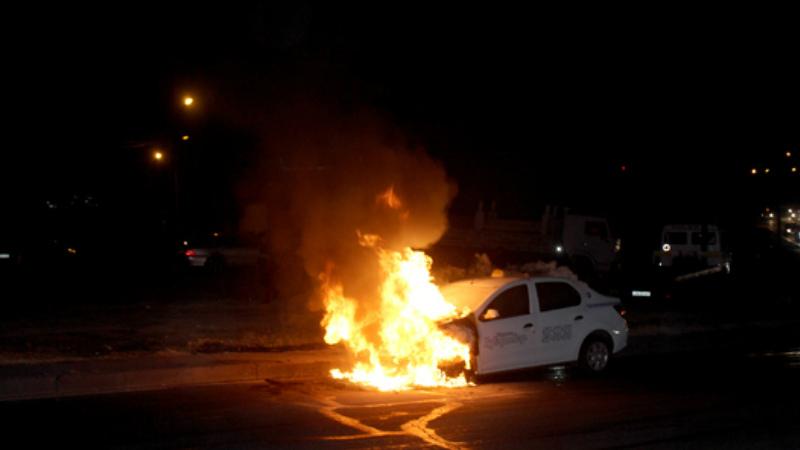 Էջմիածնում այրվել է ավտոմեքենա