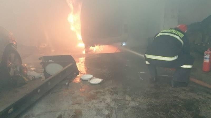 Սևան քաղաքի սկզբնամասում այրվել է գործող ավտոտեխսպասարկման կետը՝ գույքով