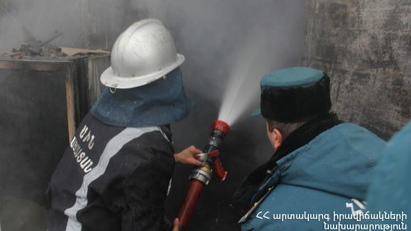 Գեղարքունիքի մարզի Գետիկ գյուղում այրվել է մթերային խանութ