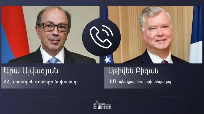 Արա Այվազյանը հեռախոսազրույց է ունեցել ԱՄՆ պետքարտուղարի տեղակալի հետ. երկուստեք կարևորվել է հայ-ամերիկյան սերտ համագործակցության պահպանումը