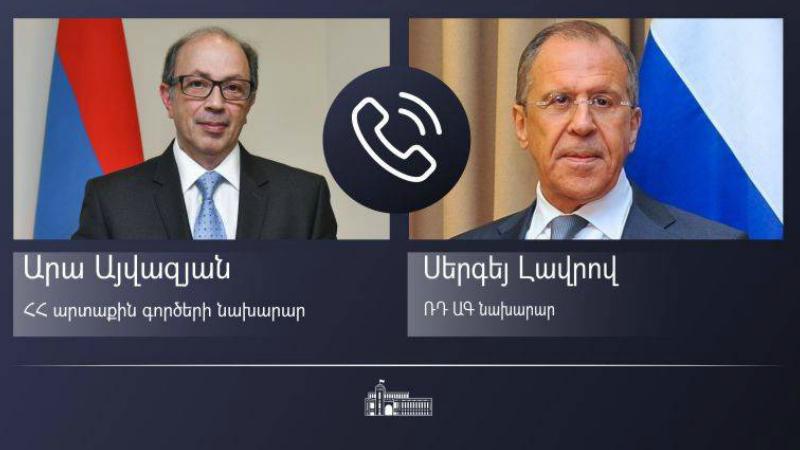 Հայաստանի և Ռուսաստանի ԱԳ նախարարները հեռախոսազրույց են ունեցել