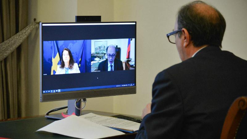 ՀՀ ԱԳ նախարար Արա Այվազյանը տեսազրույց է ունեցել Շվեդիայի ԱԳ նախարար Անն Լինդի հետ