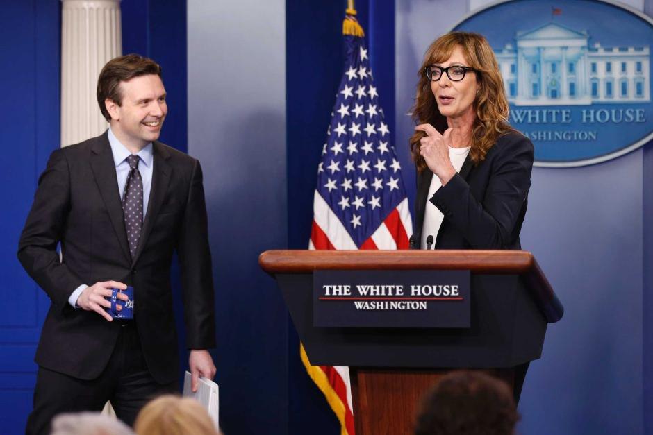 Դերասանուհի Էլիսոն Ջեննին Սպիտակ տանը կատակել է լրագրողների հետ