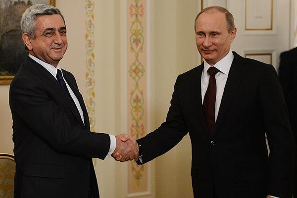 Պուտինը շնորհակալություն է հայտնել Սերժ Սարգսյանին