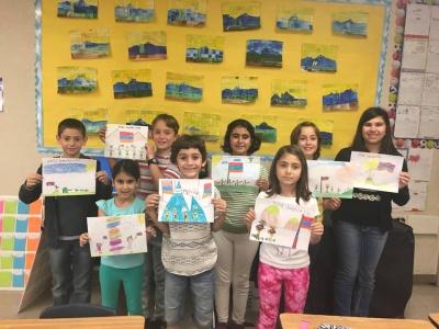 Գլենդելի հայկական դպրոցի երեխաներն իրենց նկարչական աշխատանքներով սատարում են հայ զինվորին ու մեր հայրենիքը