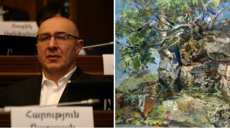 Գողացել են Էդուարդ Իսաբեկյանի «Բյուրականի կիրճում» կտավը․ պատգամավորը հանցագործության մասին հաղորդում  է ներկայացրել