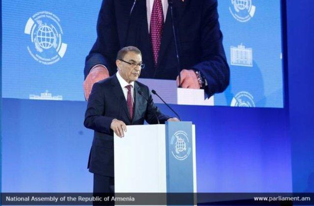 Բաքուն շարունակում է պահպանել լարվածությունը բանակցային գործընթացում. ՀՀ ԱԺ նախագահը՝ միջազգային համաժողովին