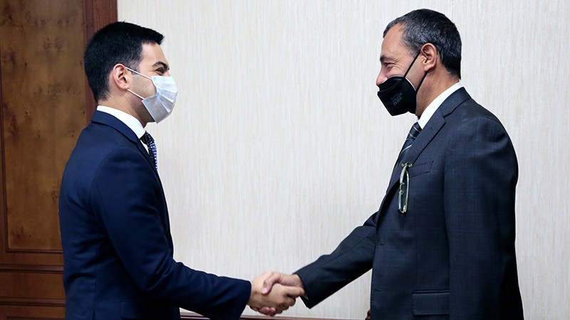 Ռուստամ Բադասյանն ընդունել է ՀՀ-ում Իտալիայի արտակարգ և լիազոր դեսպանին