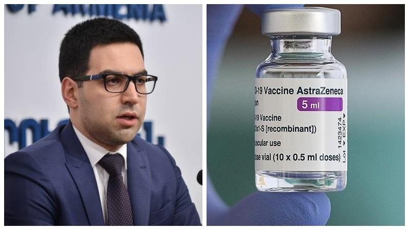 Ռուստամ Բադասյանը ստացել է կորոնավիրուսի դեմ AstraZeneca պատվաստանյութի առաջին դեղաչափը