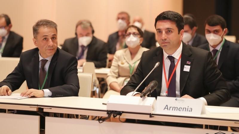 ԱԺ նախագահ Ալեն Սիմոնյանը ելույթ է ունեցել Խորհրդարանների նախագահների 5-րդ համաշխարհային համաժողովի ընթացքում