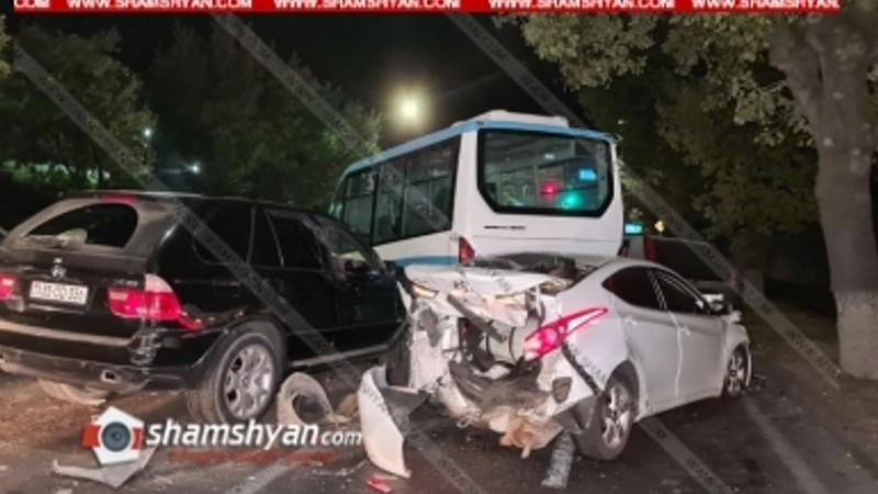 Շղթայական ավտովթար Երևանում. կան վիրավորներ
