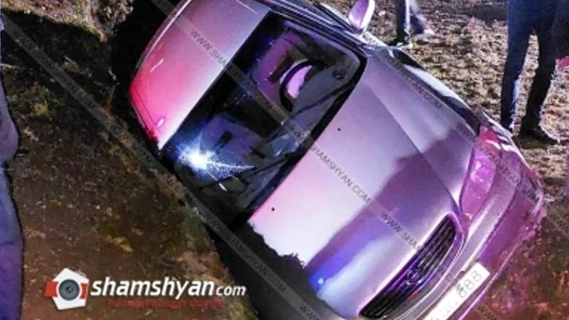 Ավտովթար Շիրակի մարզում. մեքենան դուրս է եկել երթևեկելի գոտուց և հայտնվել փոսում. կա վիրավոր