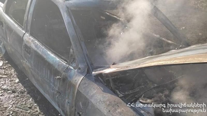 Արզնի գյուղում ավտոմեքենա է այրվել