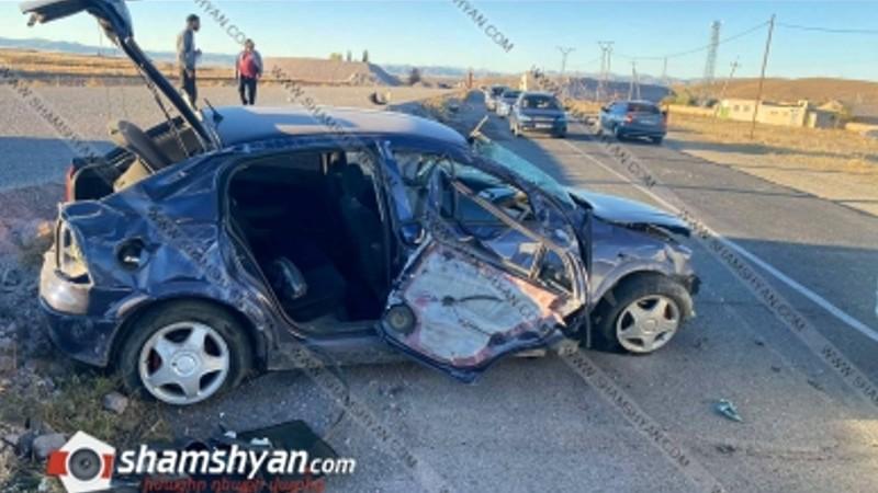 Խոշոր ավտովթար Շիրակի մարզում. ոստիկանության աշխատակիցը Opel-ով բախվել է քարերին. բժիշկները պայքարում են նրա կյանքի համար