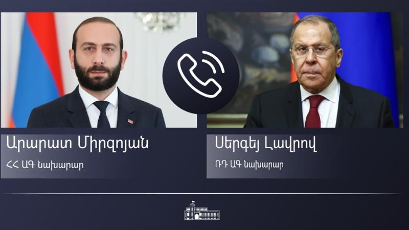 Արարատ Միրզոյանը հեռախոսազրույց է ունեցել Սերգեյ Լավրովի հետ