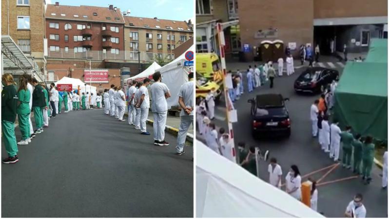 Բելգիայում բուժաշխատողներն «ամոթանքի միջանցք» են կազմել երկրի վարչապետին դիմավորելիս (լուսանկարներ, տեսանյութ)