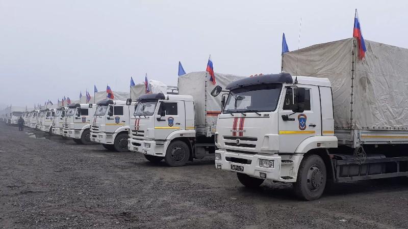 ՌԴ ԱԻՆ-ը Լեռնային Ղարաբաղ է առաքել 250 տոննա մարդասիրական օգնություն