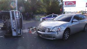 ԲԱՑԱՌԻԿ ՏԵՍԱՆՅՈՒԹ՝ Երևանում «Հարսնաքար» ռեստորանի դիմաց տեղի ունեցած ավտովթարից