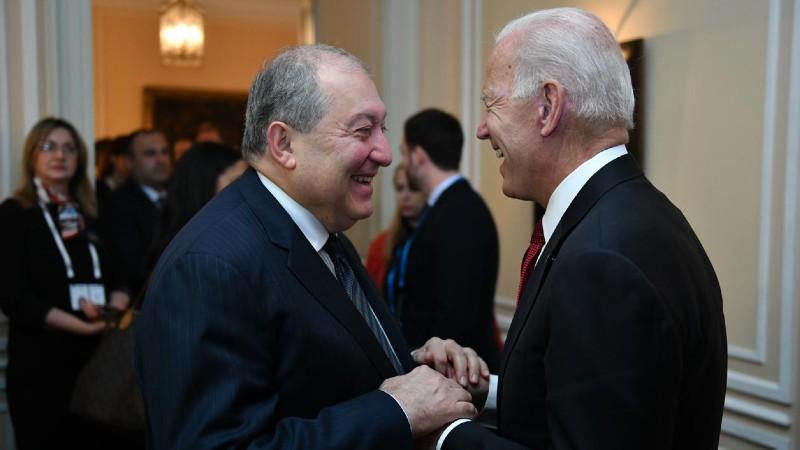 Արմեն Սարգսյանը շնորհակալական նամակ է հղել ԱՄՆ նախագահ Ջո Բայդենին