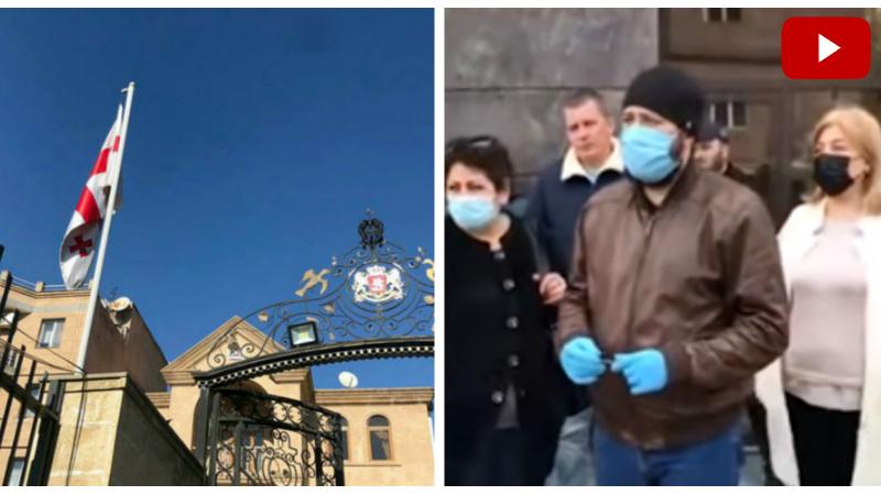 Մի շարք հայազգի ՌԴ քաղաքացիներ բողոքի ակցիա են իրականացրել Հայսատանում Վրաստանի դեսպանատան դիմաց․ մանրամասներ (տեսանյութ)․ «Ա1+»