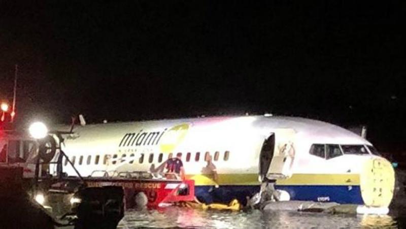 Կադրեր Ֆլորիդայում Boeing 737-ի վթարի վայրից (տեսանյութ)
