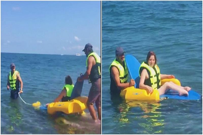 Բաթումի բուլվարում հաշմանդամների համար հարմարեցված լողափ է բացվել