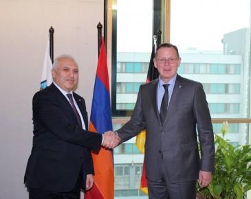 Դեսպան Սմբատյանը հանդիպել է Գերմանիայի Թյուրինգիա երկրամասի վարչապետի հետ