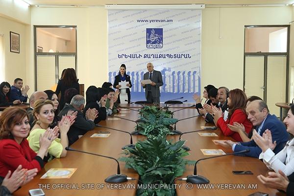 Շնորհակալագրեր՝ «Էրեբունի-Երևան 2797» տոնակատարության բաղադրիչ ծրագրերի կազմակերպմանը մասնակից աշխատակիցներին (լուսանկարներ)