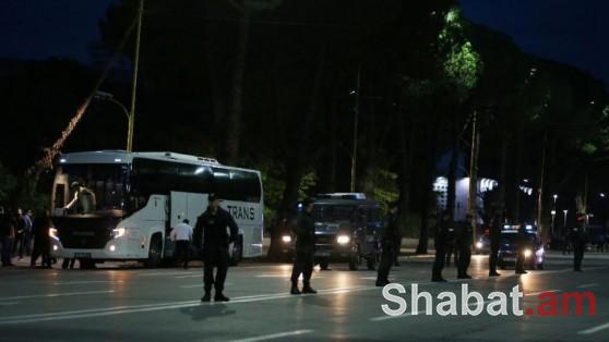 Սերբիայի հավաքականի ավտոբուսը քարկոծվել է Ալբանիայում