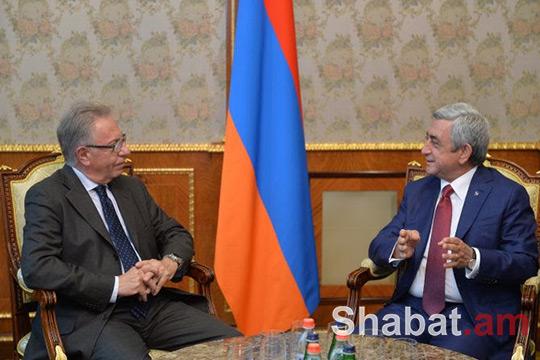 Սերժ Սարգսյանն ընդունել է Վենետիկի հանձնաժողովի նախագահին