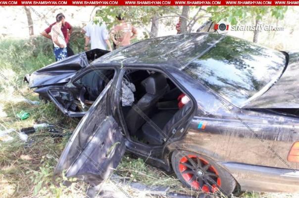 Երևան–Սևան ավտոճանապարհին մեքենան դուրս է եկել ճանապարհի երթևեկելի հատվածից և բախվել ծառին