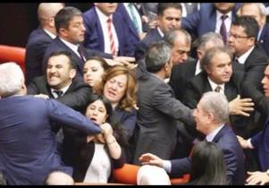 Թուրքիայի խորհրդարանում ծեծկռտուք է տեղի ունեցել