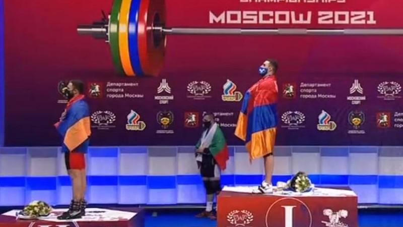 Ծանրորդ Սամվել Գասպարյանը Եվրոպայի չեմպիոն է, Արսեն Մարտիրոսյանը` փոխչեմպիոն