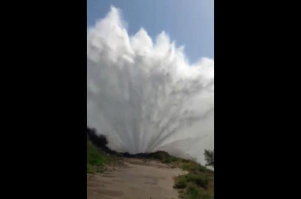 Երևանի «Կորեայի ձոր» կոչվող հատվածում վթարվել է «Արզնի-Երևան թիվ 2» մայրուղային ջրատարը