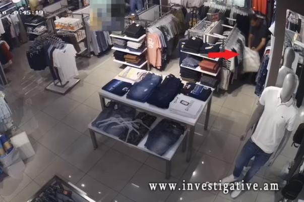 Որոնվում է երևանյան հագուստի խանութում գողության փորձ կատարած և փախուստի դիմած անձը (տեսանյութ)