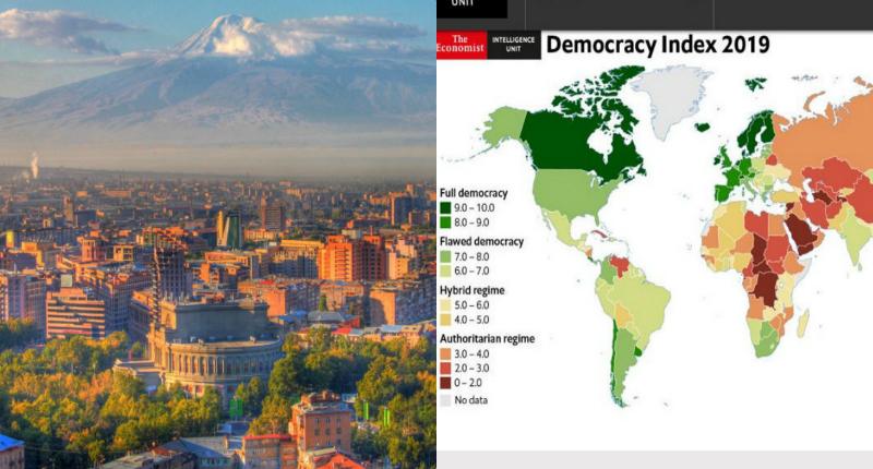 Հայաստանը EIU-ի «Ժողովրդավարության ինդեքս- 2019» զեկույցում զբաղեցրել է 86-րդ հորիզոնականը